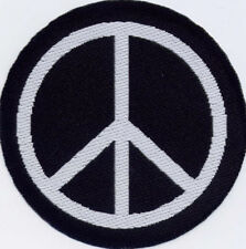 Peace Anti-War CND  Badge Patch Motif 50mm Diameter IRON ON