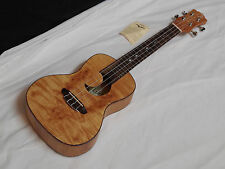 LUNA Exotic Maple Burl concert UKULELE new UKE - Crescent Moon