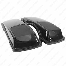 "Vivid Black CVO 6x9"" Saddlebag Speaker Lids Harley Street Glide Road King Ultra"