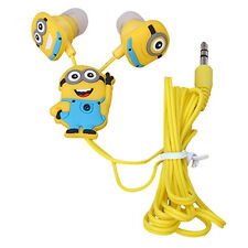 Despicable Me Minions Style 3.5 mm In-ear Headphones Earphones Fashion