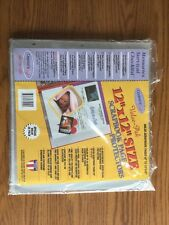 NEW! Century Craft Scrapbook Page Protector for 12 x 12 Albums 25 Pages Heavywt