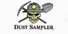 3 - Dust Sampler Skull Coal Mining Tool Box Hard Hat Helmet Sticker Ohio WV H401