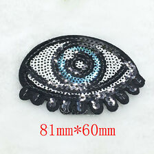eyes Embroidery Iron on patch sewn For clothing applique backpack Motif