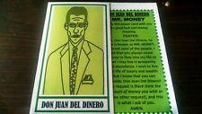 DON JUAN DEL DINERO - MR. MONEY PRAYER CARDS - LOT OF 2 !!! folk saint