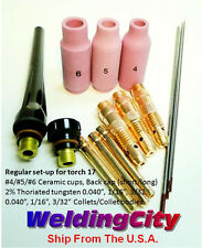 "WeldingCity Accessory Kit AK2 Collet-Cup-Cap-Tungsten 040""~3/32"" TIG Torch 17"