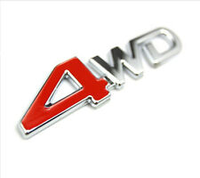 "Red CAR SUV Metal ""4WD"" Trunk Lid Fender Emblem Badge Sticker Logo Decal Durable"