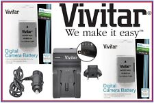 2Pc Vivitar 2300mAh ENEL14a Lithium Ion Battery for Nikon Df (With FREE Charger)
