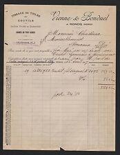 RONCQ, Rechnung 1927, Vienne & Bonduel Tissage de Toiles et Coutils