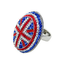Butler and Wilson Crystal Union Jack Ring ONE SIZE BLACK FRIDAY RRP£38 LTD STOCK