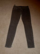 JOE'S JEANS CHARCOAL HIGHER RISE SKINNY VISIONAIRE STRETCH CORDUROY JEANS 29