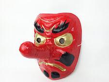 Japanese Tengu Mask Omen Noh Kabuki Samurai Demon made in Japan