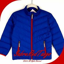 NWT HANNA ANDERSSON WARM UP IN DOWN SUPERLIGHT JACKET COAT BRILLIANT BLUE 120 7