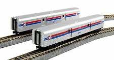 Kato N 106-3512 Amtrak Baggage Car Phase I Two Car Set Road Numbers 1075 & 1076