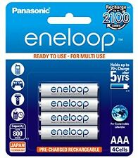 Panasonic BK-4MCCE/4BN Eneloop AAA 800 mAh Rechargeable Battery(Pack of 4)