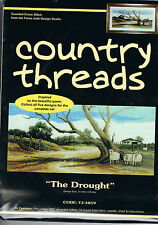 "Country Threads "" THE DROUGHT "" Counted Cross Stitch Kit,"