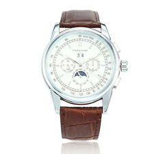 FORSINING Luxury Men Women Automatic Mechanical Leather Band Unisex Watch