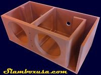 CUSTOM DUAL JL AUDIO 13W7/13W7AE SUBWOOFER ENCLOSURE/SUB BOX PORTED/VENTED
