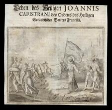 santino incisione 1600  S. GIOVANNI DA CAPESTRANO
