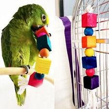 Pet Parrot Bird Cages Blocks Toy Parakeet African Grey Cockatoo Chew Fun Toys