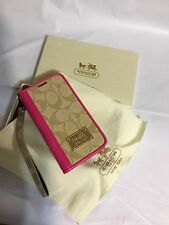 Coach Leather Wallet Flip Case Cover Samsung Galaxy S5 U.S. Seller