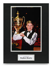 Stephen Hendry Signed 16x12 Photo Snooker Autograph Display Memorabilia + COA