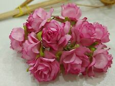 50 Pink Mulberry Paper Rose Flower / Wedding / dai 3-3.5 cm.PF_RS300PI4