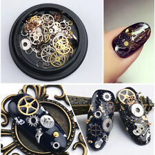 3D Time Steam Punk Style Gold Metal Studs DIY Decoration Nail Wheel Beauty New