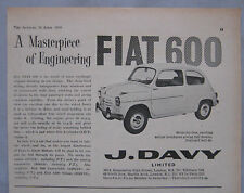 1959 Fiat 600 Original advert No.1