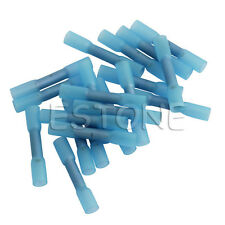 20pcs Blue Heat Shrink Butt Wire Crimp Connectors Electrical Terminals 16-14AWG