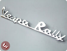 VESPA Rear Frame Script Badge 'Vespa Rally' Chrome