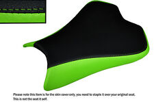DESIGN 2 BLACK &LIGHT GREEN CUSTOM FITS KAWASAKI NINJA ZX6R 636 09-15 SEAT COVER