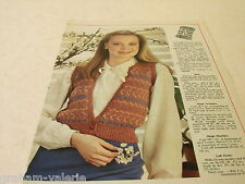 Knitting Pattern Ladies 4 Colour Waistcoat