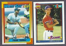 1990 1991 TOPPS LOT BASEBALL AND ALL STAR  COMPLETE YOUR SET  25 PICKS
