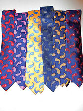"6 $1,170 NWT TURNBULL & ASSER EXCLUSIVE Navy Red Gold PAISLEY 3.5"" UK silk tie"