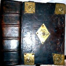 1610 GENEVA BREECHES BIBLE LEATHER ROBERT BARKER GOD DEVIL JESUS KJV GENEALOGY $
