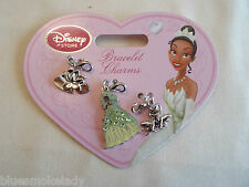 Disney Store exclusive set of 3 charms for bracelet Tiana Princess and the Frog