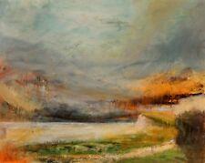 """ANTHONY BIRCHWOOD BA FRSA ORIGINAL """"Charivari"""" Large impressionist Sky PAINTING"""