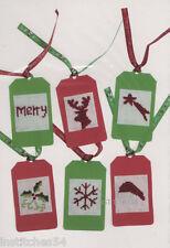 Groves Christmas Cross Stitch Kit  DIY Christmas Gift Tags