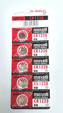 Japan made Maxell CR1220 1220 3V cell coin button battery for calculator x5 pcs
