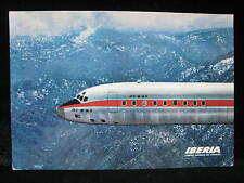 IBERIA AIRLINES Douglas DC-8 Airplane NOSE Airline Issue Vintage Postcard