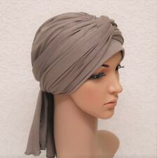 Volume turban snood, full head covering, head wrap, hair wrap, chemo head wear