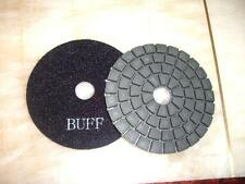 "5 Pieces of 4"" DAMO Black Final Buffing Pad for granite marble concrete shiny"