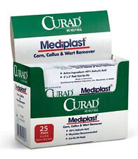 "Medline CURAD MEDIPLAST 2""x3"" 25bx Corn Callus Wart Remover Cut-To-Fit Pads New"