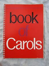 VINTAGE BOOK OF CAROLS WI 122 pages ring bind
