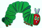 VERY HUNGRY CATERPILLAR Iron Sew On Patch Tshirt Transfer Motif Applique 10 x7cm