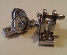 Pair(2) SS 316 Angle Deck Hinge Mount w/Quick Release. Marine Boat Bimini Top