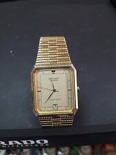 VINTAGE OLD STOCK MEN'S WATCH ORIENT QUARTZ B679T3-40CS JAPAN GOLD COLOR WORK