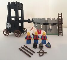 LEGO 6061 Castle Siege Tower Vintage 1984 Set w/ Figures & Horse Lion Knights