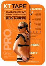 KT TAPE PRO Synthetic Elastic Kinesiology Sport Tape 2 Strip Trial Pack