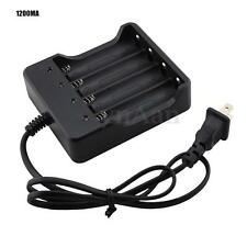 DC 4.2V 1200mA 4 Slots 18650 Li-ion Rechargeable Battery AC Wall Charger W/LED